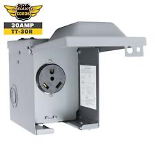 Weatherproof Plug for Temporary Hookup RV Camper Travel Trailer Kohree 30 Amp RV Power Outlet Box 125 Volt Enclosed Lockable Nema TT-30R RV Outdoor Electrical Receptacle Panel